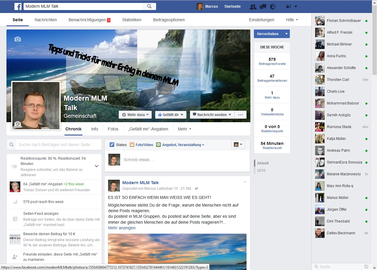 Facebook Fanpage für mehr MLM Leads