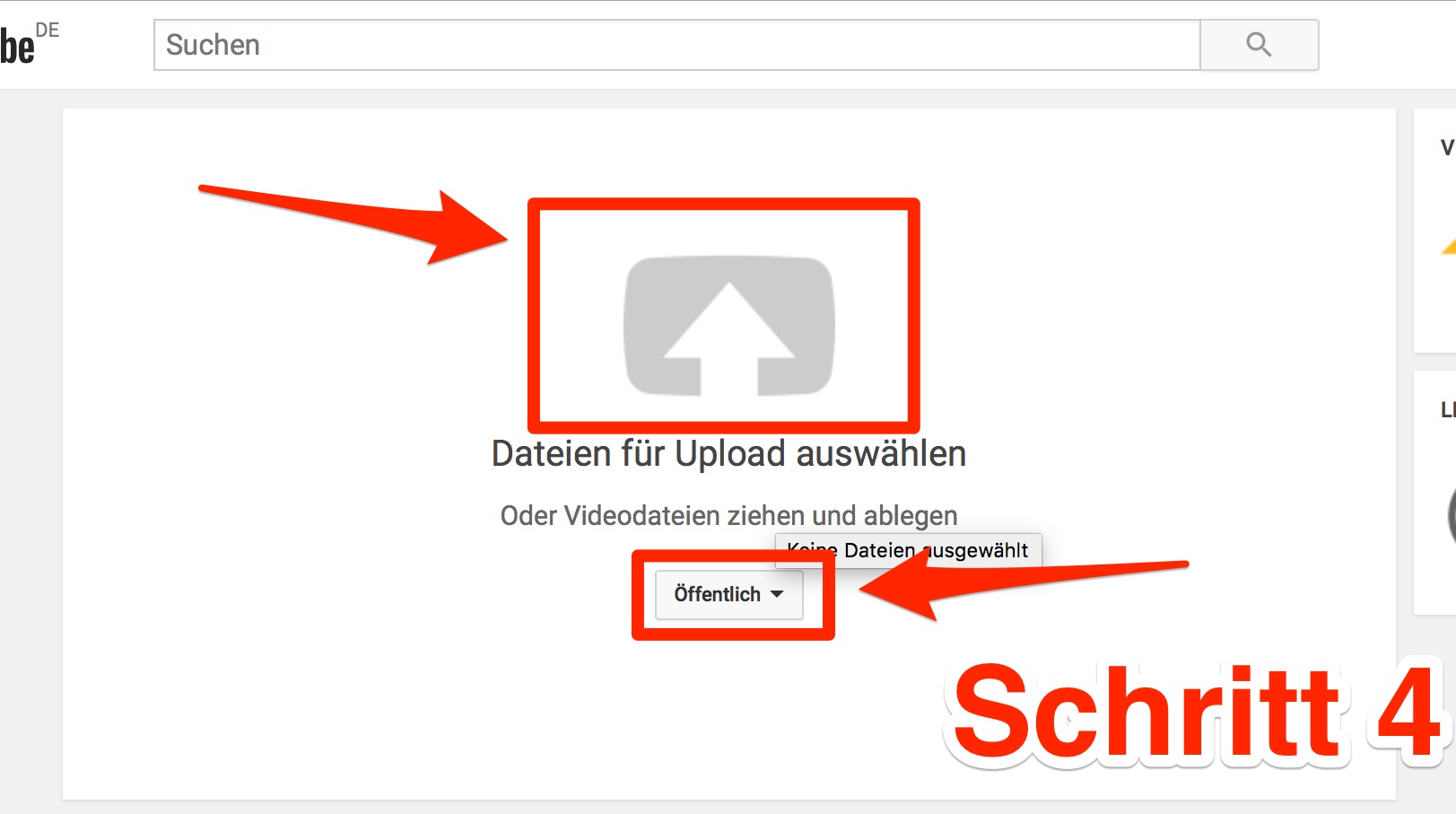 VIDEOCLIP - DEINE SCHRITTE NACH DEM UPLOAD