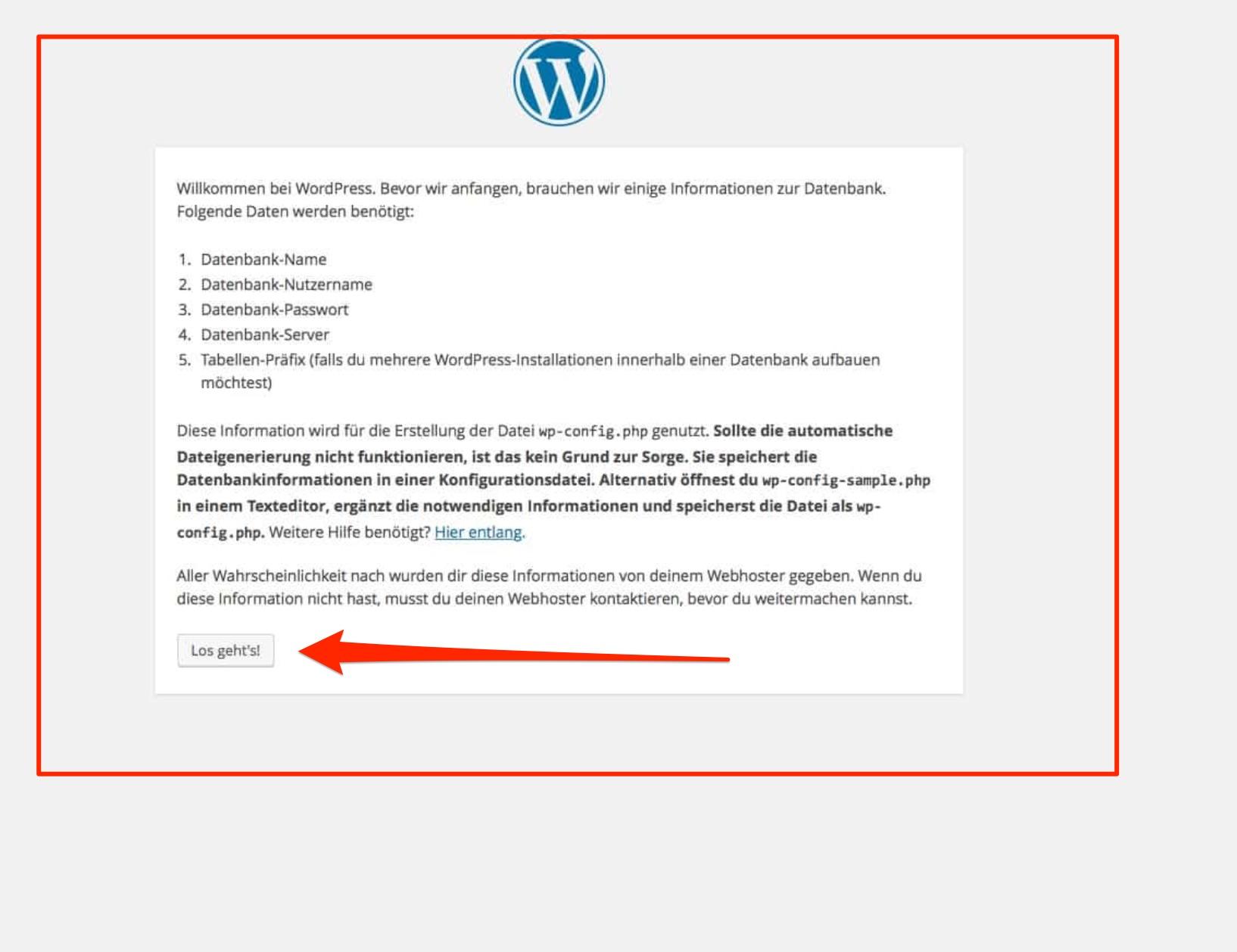 Wordpress installieren mit xampp