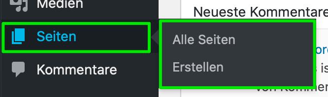 WORDPRESS SEITEN - DIESE SEITEN DÜRFEN NICHT FEHLEN!